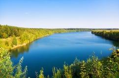 Paisaje grande del lago Foto de archivo libre de regalías