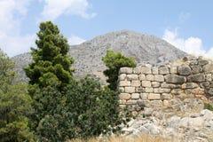 Paisaje griego con ruinas Imagen de archivo libre de regalías