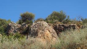 Paisaje griego rugoso de la montaña Imagenes de archivo