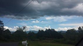 Paisaje gris oscuro de la nube Imagen de archivo libre de regalías