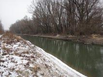 Paisaje húngaro del invierno Foto de archivo libre de regalías