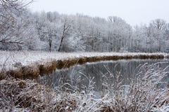Paisaje helado del invierno Imagen de archivo libre de regalías