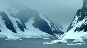Paisaje helado en Ant3artida Foto de archivo libre de regalías