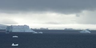 Paisaje helado en Ant3artida Fotos de archivo