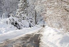 Paisaje helado invierno Imágenes de archivo libres de regalías