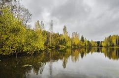 Paisaje hermoso Último otoño Imágenes de archivo libres de regalías