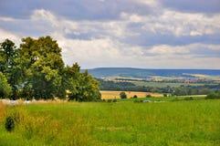 Paisaje hermoso (campos) en Fulda, Hesse Fotos de archivo