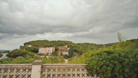 Paisaje hermoso cerca de la ciudad de Calella almacen de metraje de vídeo