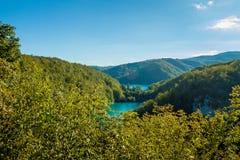 Paisaje hermoso con los lagos Fotografía de archivo libre de regalías