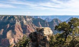 Paisaje hermoso de Grand Canyon del borde del orth Foto de archivo