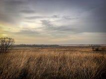 Paisaje hermoso de la caída del prado Foto de archivo libre de regalías
