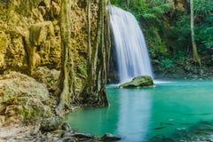 Paisaje hermoso de la cascada de Erawan foto de archivo libre de regalías