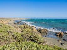 Paisaje hermoso de la costa costa pacífica, Big Sur en la carretera 1 Fotos de archivo