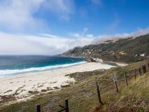 Paisaje hermoso de la costa costa pacífica, Big Sur en la carretera 1 Imagen de archivo libre de regalías