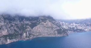 Paisaje hermoso de la costa italiana metrajes