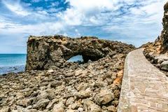 Paisaje hermoso de la cueva de la ballena Foto de archivo libre de regalías
