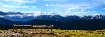 Paisaje hermoso de la montaña Fotos de archivo