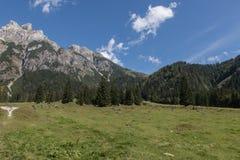 Paisaje hermoso de la montaña al lado de Werfenweng foto de archivo libre de regalías