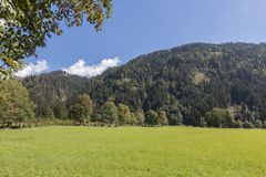 Paisaje hermoso de la montaña al lado de Werfenweng fotografía de archivo libre de regalías