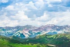 Paisaje hermoso de la montaña del verano en Colorado Fotos de archivo libres de regalías
