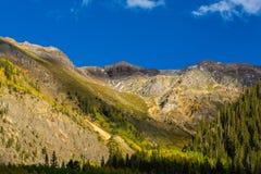 Paisaje hermoso de la montaña en Aspen, telururo, Colorado fotos de archivo libres de regalías