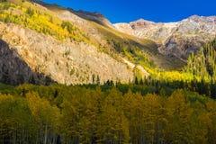 Paisaje hermoso de la montaña en Aspen, telururo, Colorado fotografía de archivo libre de regalías