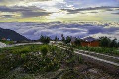 Paisaje hermoso de la montaña en Phutabberk Phetchabun, Tailandia Fotos de archivo libres de regalías