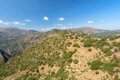 Paisaje hermoso de la montaña de Grecia peloponnese imagenes de archivo