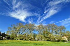 Paisaje hermoso de la naturaleza con el cielo azul Fotos de archivo libres de regalías
