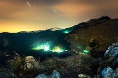 Paisaje hermoso de la naturaleza en la noche Fotografía de archivo libre de regalías