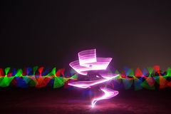 Paisaje hermoso de la pintura ligera de la noche Imágenes de archivo libres de regalías