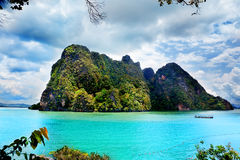 Paisaje hermoso de la playa en Tailandia Bahía de Phang Nga, mar de Andaman, Phuket Imagen de archivo