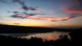 Paisaje hermoso de la puesta del sol fotos de archivo libres de regalías