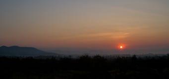 Paisaje hermoso de la salida del sol Fotos de archivo