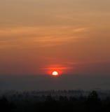 Paisaje hermoso de la salida del sol Foto de archivo libre de regalías