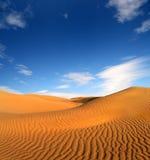 Paisaje del desierto de la tarde Imagen de archivo libre de regalías