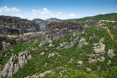 Paisaje hermoso de Meteora foto de archivo libre de regalías