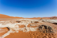 Paisaje hermoso de Sossusvlei de Death Valley Foto de archivo