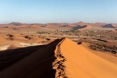 Paisaje hermoso de Sossusvlei de Death Valley, Namibia Imagen de archivo libre de regalías