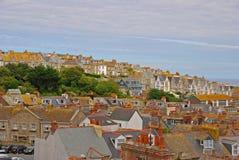 Paisaje hermoso de St Ives Cornwall foto de archivo libre de regalías
