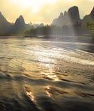 Paisaje hermoso de Yangshuo en Guilin, China Imagen de archivo libre de regalías