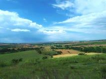 Paisaje hermoso del campo de granja Fotografía de archivo