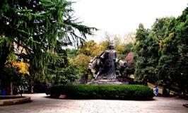 Paisaje hermoso del campus universitario de Wuhan fotografía de archivo