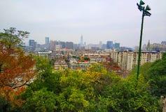 Paisaje hermoso del campus universitario de Wuhan fotografía de archivo libre de regalías