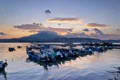 Paisaje hermoso del embarcadero de Taiwán Imagenes de archivo