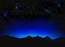 Paisaje hermoso del espacio de la noche Fotos de archivo