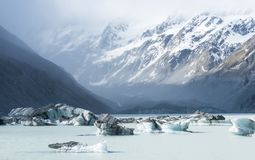 Paisaje hermoso del iceberg en Nueva Zelanda foto de archivo libre de regalías