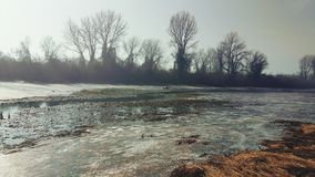 Paisaje hermoso del invierno el día soleado Imagen de archivo libre de regalías