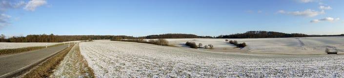 Paisaje hermoso del invierno en Alemania Foto de archivo libre de regalías