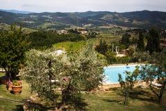 Paisaje hermoso del italiano Toscana r Foto de archivo